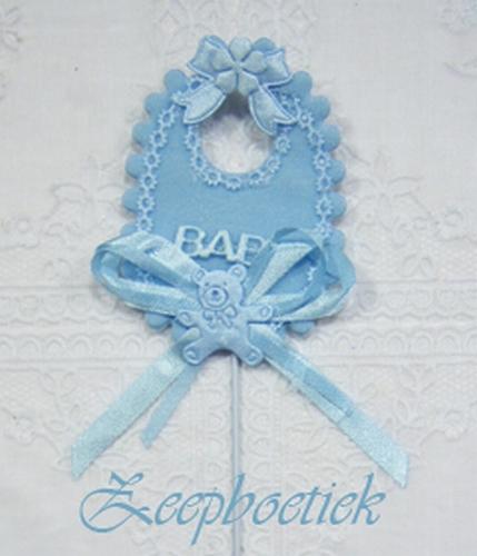bedel babyslabbetje blauw
