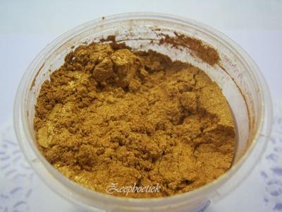 SQ mica poeder, 10 gram goud in een gripzakje.