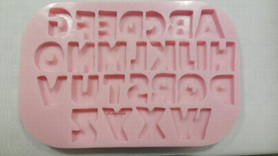 siliconen letters van het alfabet