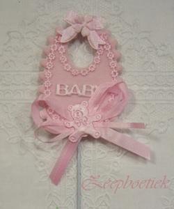 bedel babyslabbetje roze