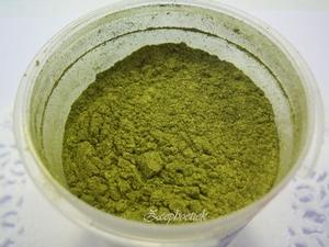 SQ mica poeder, 10 gram groen - olijf in een gripzakje