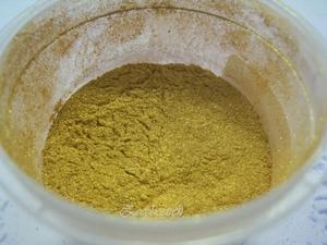 SQ mica poeder, 10 gram goud - geel - in een gripzakje