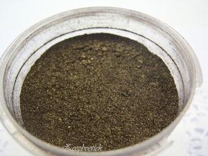 SQ mica poeder, 10 gram herfst bruin in een gripzakje.